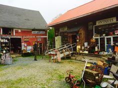 If a treasure would have been found there was no room amongst the newest additions to the Harley Davidson t-shirts .  We felt compelled anyway to stop at at least one. This guy had some good junk ! June 2017 Corn Crib Antiques New Hampshire