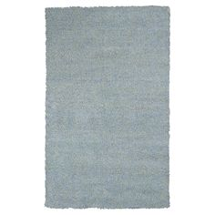 """Blue Solid Shag or Flokati Accent Rug - (2'3"""" x 3'9"""") - Kas Rugs"""
