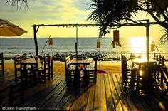 Klong Nin Beach, Koh Lanta, Thailand. The biggest selling point for Klong Nin's many bars & restaurants is the sunset.