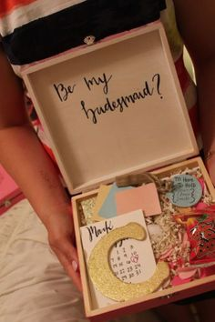 70 ideas will you be my bridesmaid box 28