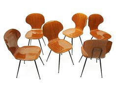 1950s Bentwood Carlo Ratti Dining Chairs http://www.fearsandkahn.co.uk/rattichairs.htm