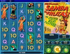 Samba De Frutas Spielautomaten - Das Design des Spiels ist in einem 1920er Karneval gestaltet und Sie können aufregende Kombinationen mit tropischen Früchten und Tänzern erhalten. #Spielautomaten #Jackpot #SambaDeFrutas