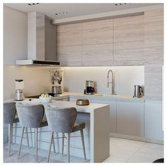 Kitchen Room Design, Modern Kitchen Design, Dining Room Design, Kitchen Layout, Home Decor Kitchen, Kitchen Living, Interior Design Kitchen, New Kitchen, Modern Bar