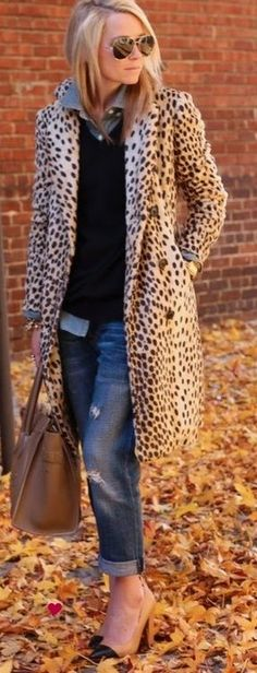 Leopard print, chambray and denim