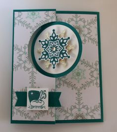 Stampin' Up Thinlits Circle Card with Festive Flurry