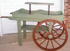 vintage flower cart