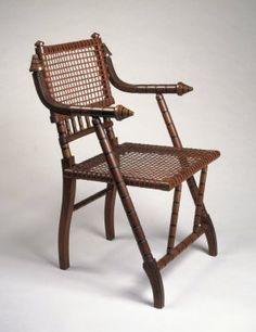 Maker: George Jacob Hunzinger, American, born Germany, 1835-1898  Medium: Walnut, steel mesh, fabric  Place Manufactured: New York, New York, USA  Dates: ca. 1876
