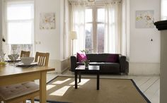 Prinsengracht Canal House.  This modern three floor Prinsengracht canal house apartment enjoys beautiful canal views and is located in the heart of the thriving Jordaan district.