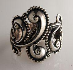Bracelet |  Gerardo Lopez.  980 Silver.  Pre 1960.  Mexico.