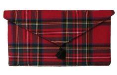 Royal Stewart Red Tartan Plaid Wool Clutch, Scottish Tartan with Forest Green Dupioni Silk Lining Tartan Men, Tweed, Royal Stewart Tartan, Tartan Fashion, Celtic, Tartan Pattern, Scottish Tartans, Handmade Handbags, Women's Summer Fashion