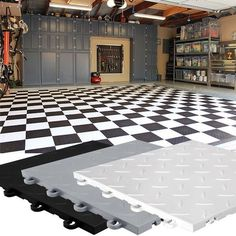 Garage Flooring -  Diamond Top Polymer