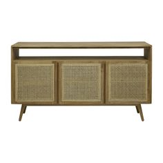 Browse Modern Buffets Online or Visit Our Showrooms To Get Inspired With The Latest Furniture From Globe West - Anja Woven Open Buffet (Teak)