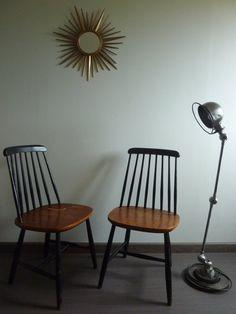 Typ Fanett TAPIOVAARA 1950er Jahre Vintage Stuhl