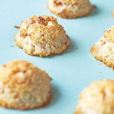 These traditional Passover cookies couldn't be easier to make -- just stir and bake -- and they require only a handful of ingredients. The coconut treats are crisp and nutty, with a chewy center.