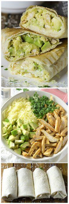 Chicken Avocado Burritos – Tasty Food Collection