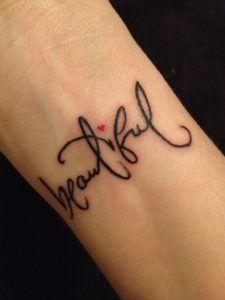 pretty wrist tattoos