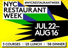 You only have a few more days to take advantage of 2013 summer Restaurant Week. Over 290 restaurants are participating, and, it's as easy as selecting the restaurant of your choice, making a reservation, and, then telling the restaurant that you'd like the Restaurant Week menu when you arrive.