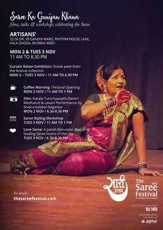 Saree ka Gunijan Khana / Nov 2-3 @ ARTISANS'   The Saree Festival, Mumbai 2015