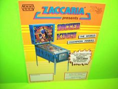Zaccaria Soccer Kings Pinball Champ Original Flipper Game Pinball Machine Flyer #Zaccaria #Pinball #PinballFlyer @PinballMachineFlyers