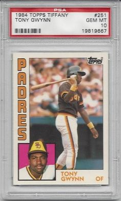 Dealer: CardboardGM Type: 1984 Topps Tiffany 251 Tony Gwynn  Grade: PSA GEM MT 10 Price: $200.00  To View Or Purchase This Baseball Card: http://www.collectorscorner.com/Products/Item.aspx?id=17954430  #Baseball #Sports #Card #PSA #Gem #Mint #Topps #Tiffany #TonyGwynn #Collector #Buy #Sell #Online #Marketplace #Trading #Cardboard #Collectible #SanDiego #Padres #HallofFame