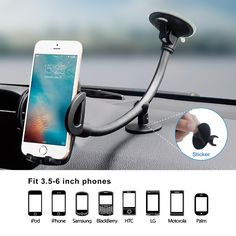 Adjustable and Universal Dashboard Windshield Car Mount AVANTEK Car Phone Holder 360/° Rotation Suitable for iPhone Xs Max XR XS X 8Plus 8 Samsung Galaxy S10 Plus S10e S9 Note 9 CM16 Gel Pad Suction Cup