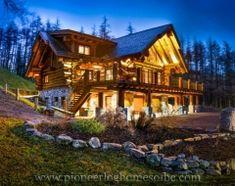 Pioneer Log Homes of BC custom built log home in Sutherland, Scotland, UK