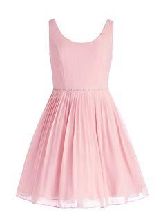 Amazon.com: Dressystar Short Chiffon Bridesmaid Dress Girls Prom Gown with Low Back: Clothing