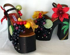 Custom fruit shoes - inspired by Carmen Miranda <3
