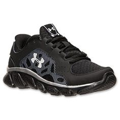 Boys' Preschool Under Armour Spine Vice Running Shoes | FinishLine.com | Black/Red/Metallic Silver
