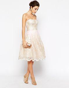 Gold & Lace Bridesmaid Dress