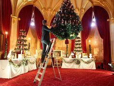 Windsor Castle putting up Christmas Decorations by Bing