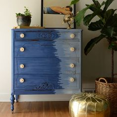 Fun Inspiration | Furniture makeover by Estuary Designs.