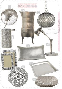 Silver Home Decor Accents