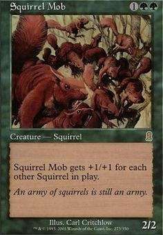 Form of the Squirrel #MTG Funny, but dumb. I do like the card art ...