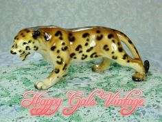 Beautiful Vintage Leopard Figurine in by HappyGalsVintage on Etsy
