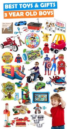 See over 150 great gift ideas for 3 year old boys.