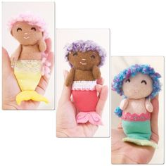 A personal favorite from my Etsy shop https://www.etsy.com/listing/448529904/custom-mermaid-doll-custom-made-felt