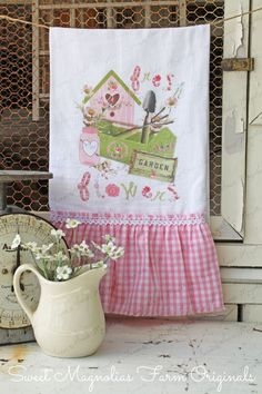 Flour Sack Kitchen Towel...  Garden Cottage by SweetMagnoliasFarm, $18.75 Sweet Magnolias Farm Design ©