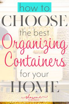 How to Choose Organizing Containers That Will Make Your Home Life Easier - ShowMe Suburban Game Organization, Refrigerator Organization, Entryway Organization, Container Organization, Laundry Room Organization, Organizing, Storage Tubs, Storage Spaces, Storage Ideas