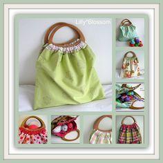 PDF Sewing Guide Reversible Craft Knitting Bag by LillyBlossom, $6.00