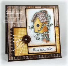 I not only love this layout, but the paper in the background is SO great! Goes with the stamp colors. MFT stamp