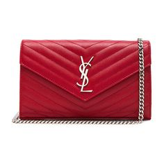 Saint Laurent Monogramme Chain Wallet ($1,660) ❤ liked on Polyvore featuring bags, wallets, handbags, pocket wallet, zip wallet, zip bag, credit card holder wallet and card slot wallet