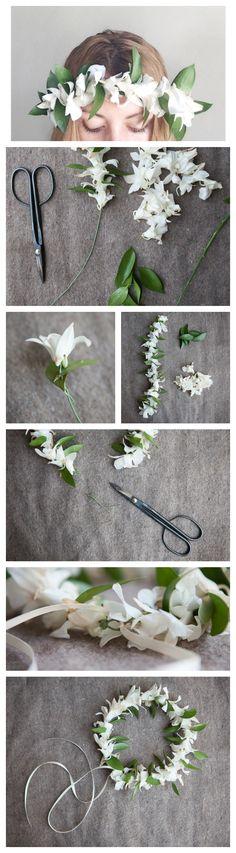 DIY orchid crown