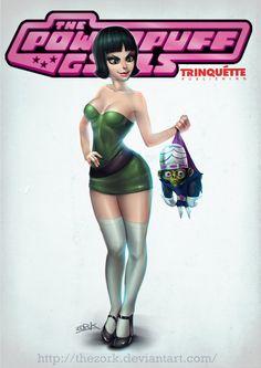 Powerpuff Girls - Trinquette Weekly Challenge by thezork.deviantart.com on @deviantART