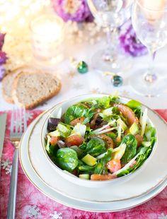 Idée salade simple, fraiche, légère et raffinée pour repas de fêtes Pasta Salad, Entrees, Recipies, Super Simple, Eat, Cooking, Ethnic Recipes, Nouvel An, Food