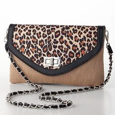 Leopard clutch paired with the maxi
