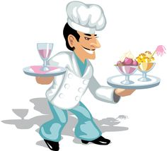 Cooking Clip Art | Chef With Ice Cream.