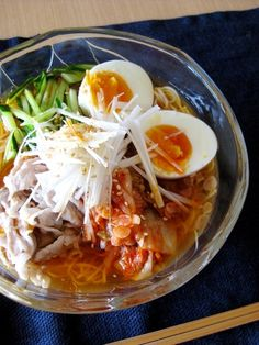 Naengmyeon Style Spicy Somen Noodles Recipe by cookpad. Curry Recipes, Rice Recipes, Asian Recipes, Great Recipes, Cooking Recipes, Ethnic Recipes, Somen Noodle Recipe, Just Eat It, Hot Pot