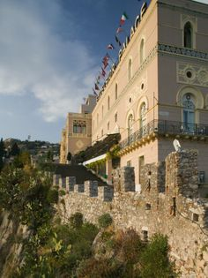 Excelsior Palace Hotel, Taormina, Sicily, Italy Photographic Print Taormina Sicily, Palace Hotel, Beautiful Hotels, Lodges, Framed Prints, The Incredibles, Mansions, Wall Art, House Styles