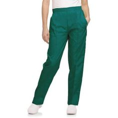 Landau Women's Classic Tapered Leg Scrub Pant, Green